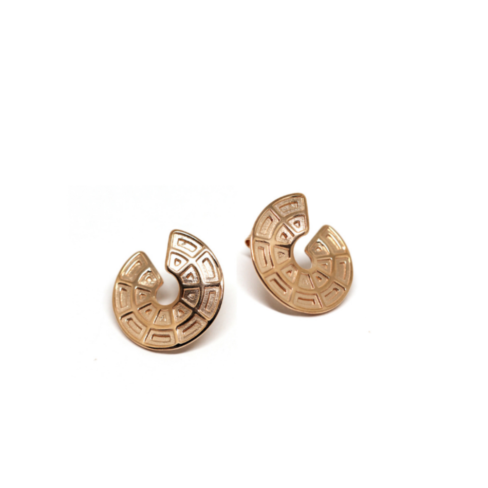 Pantheon Dome Earrings Rome Co.Ro. Jewels Rose Gold Silver