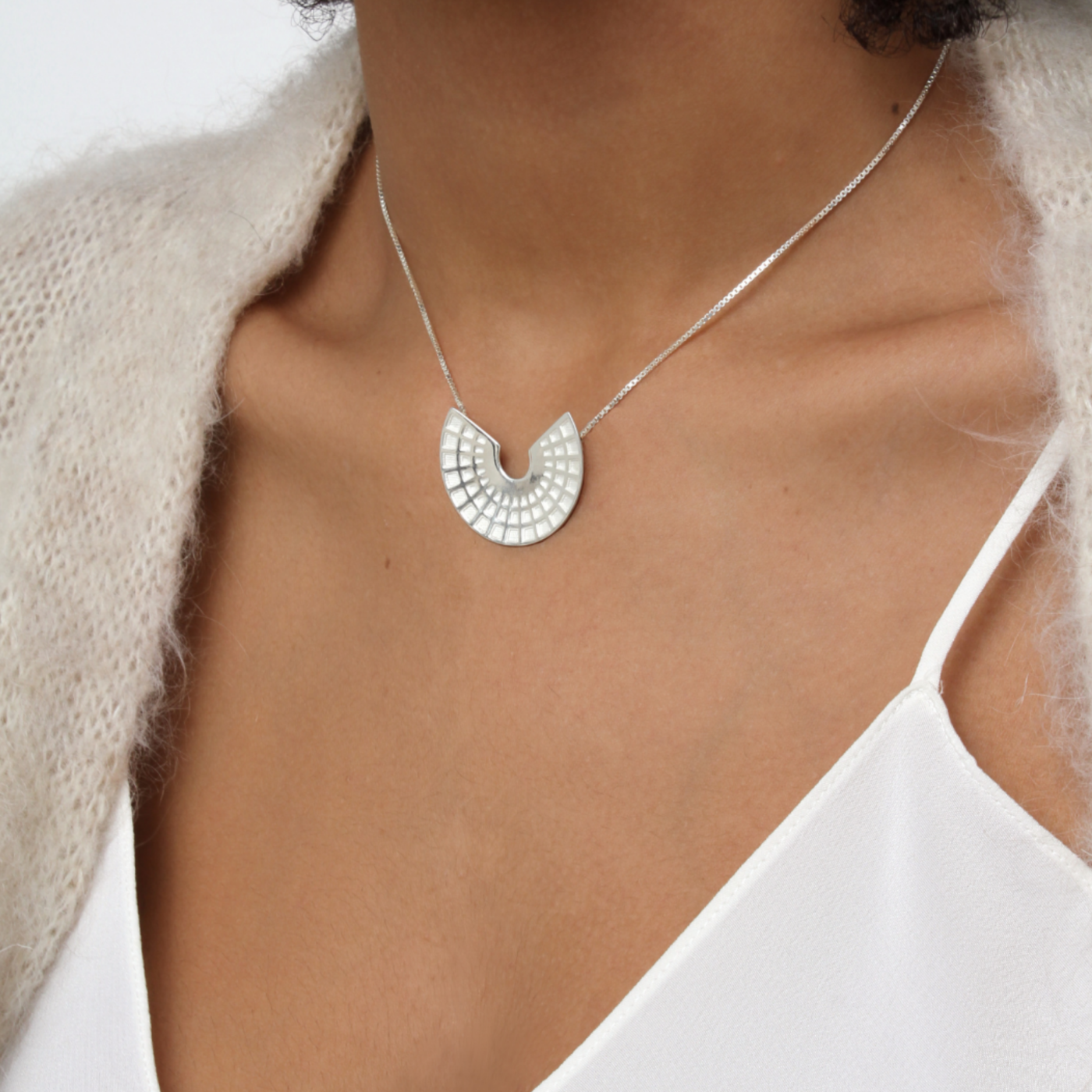 Pantheon Pendant Rose Gold Plated Sterling Silver