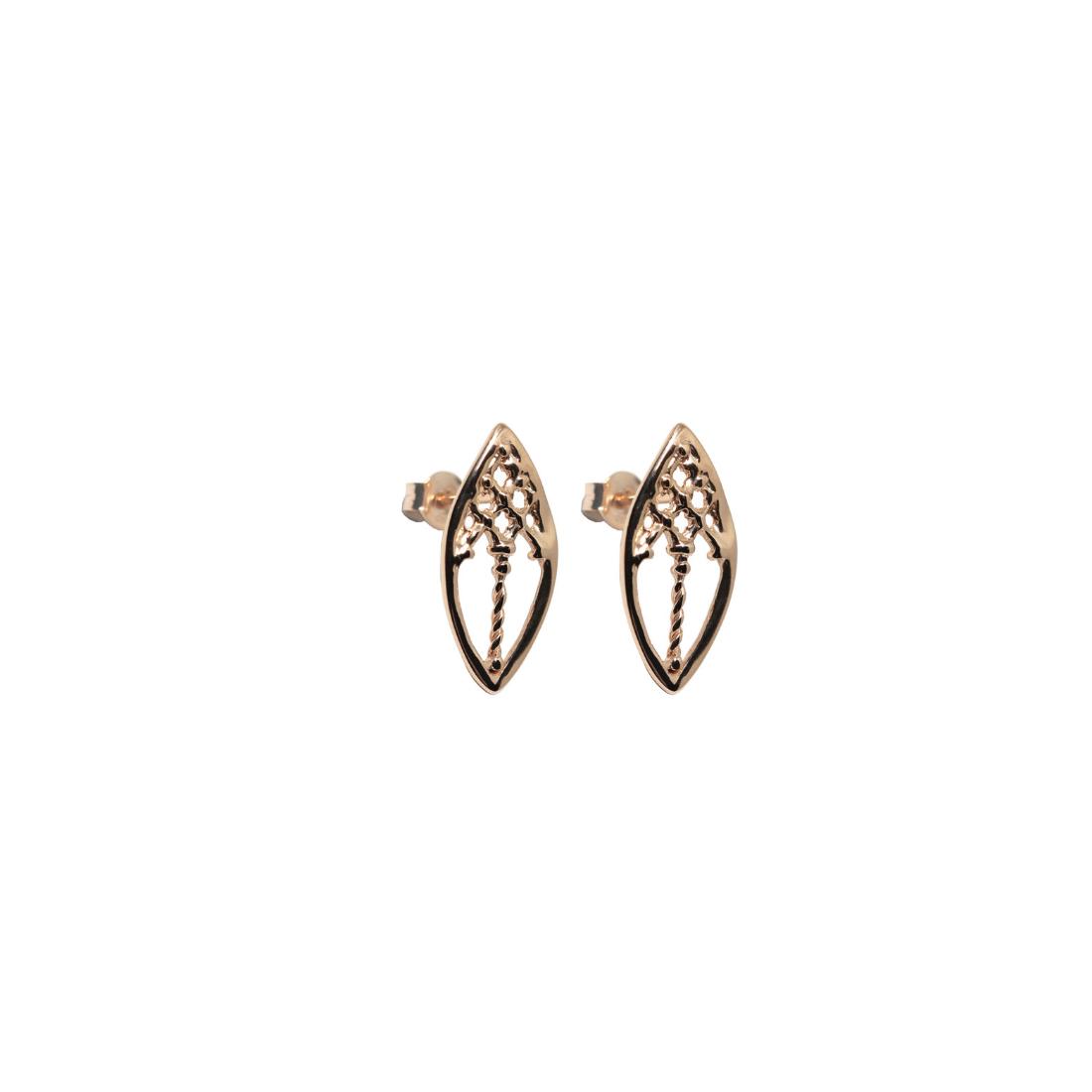 Little Venetian Windows Earrings Rose Gold Plated Silver
