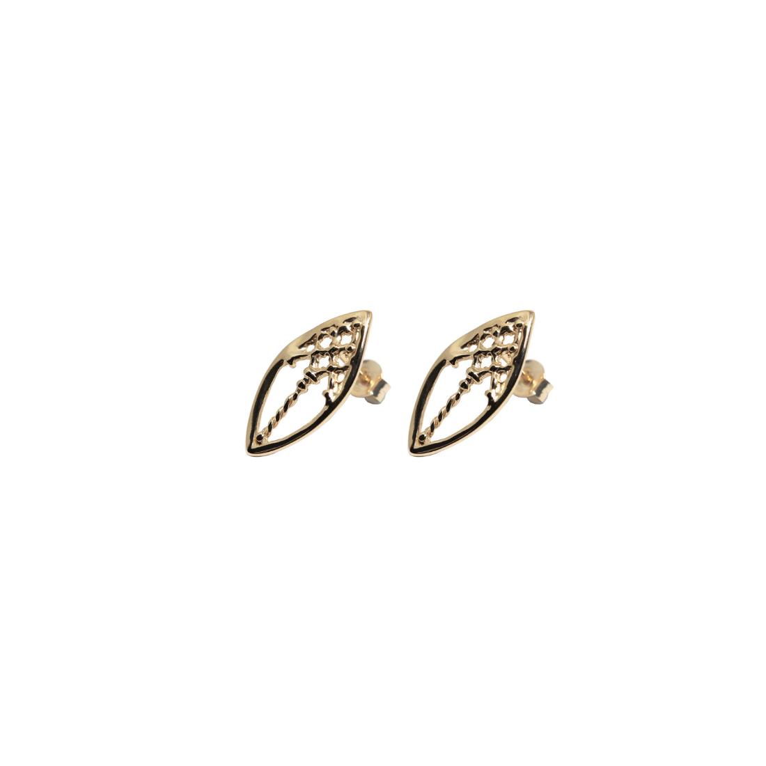 Little Venetian Windows Earrings Gold Plated Silver