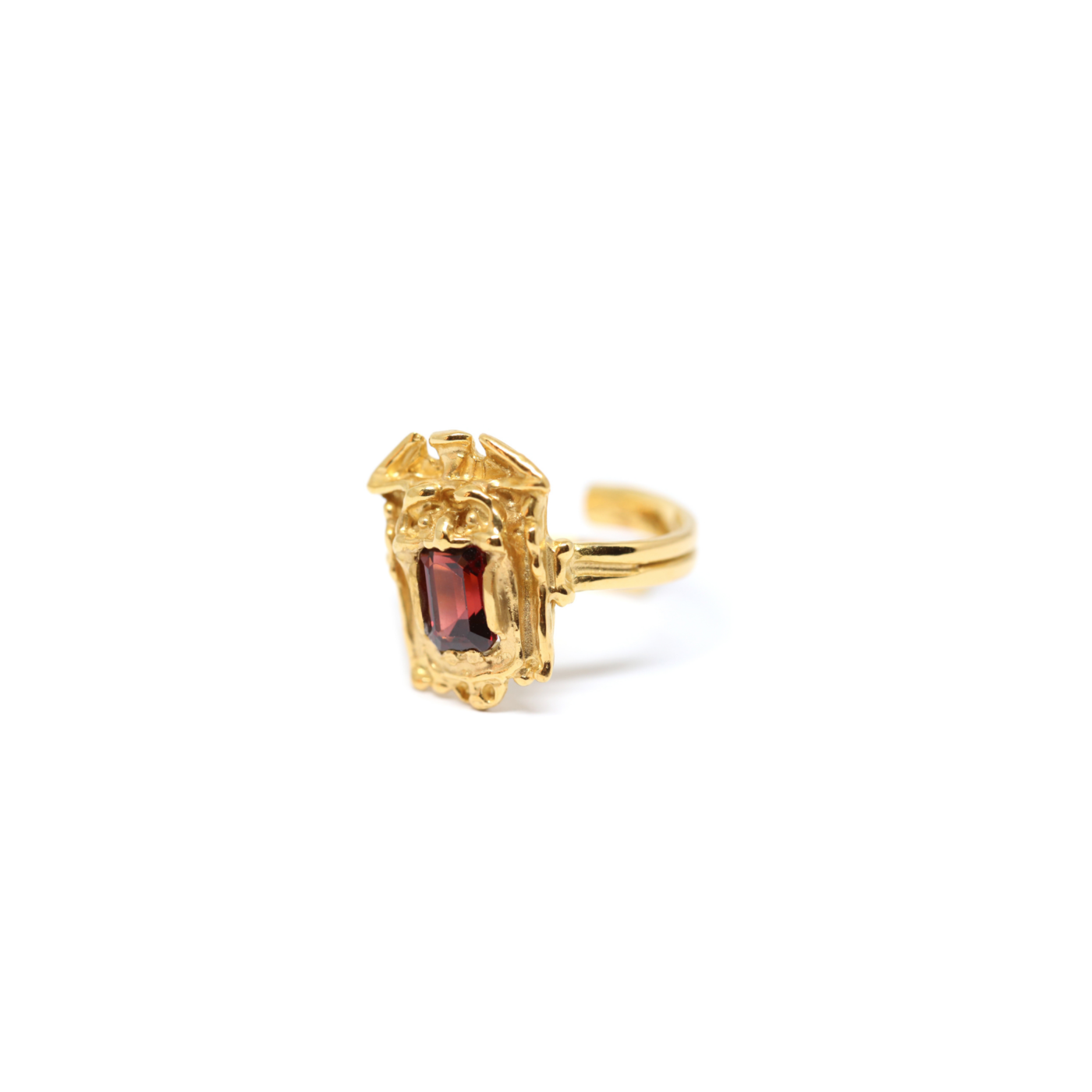 Zuccari Ring Gold Plated Silver