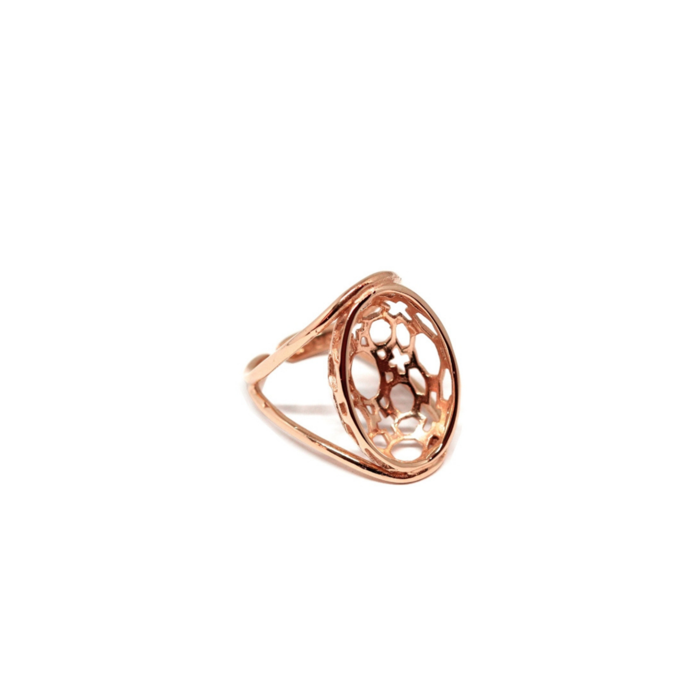 San Carlo Dome Ring Rose Gold Plated Silver