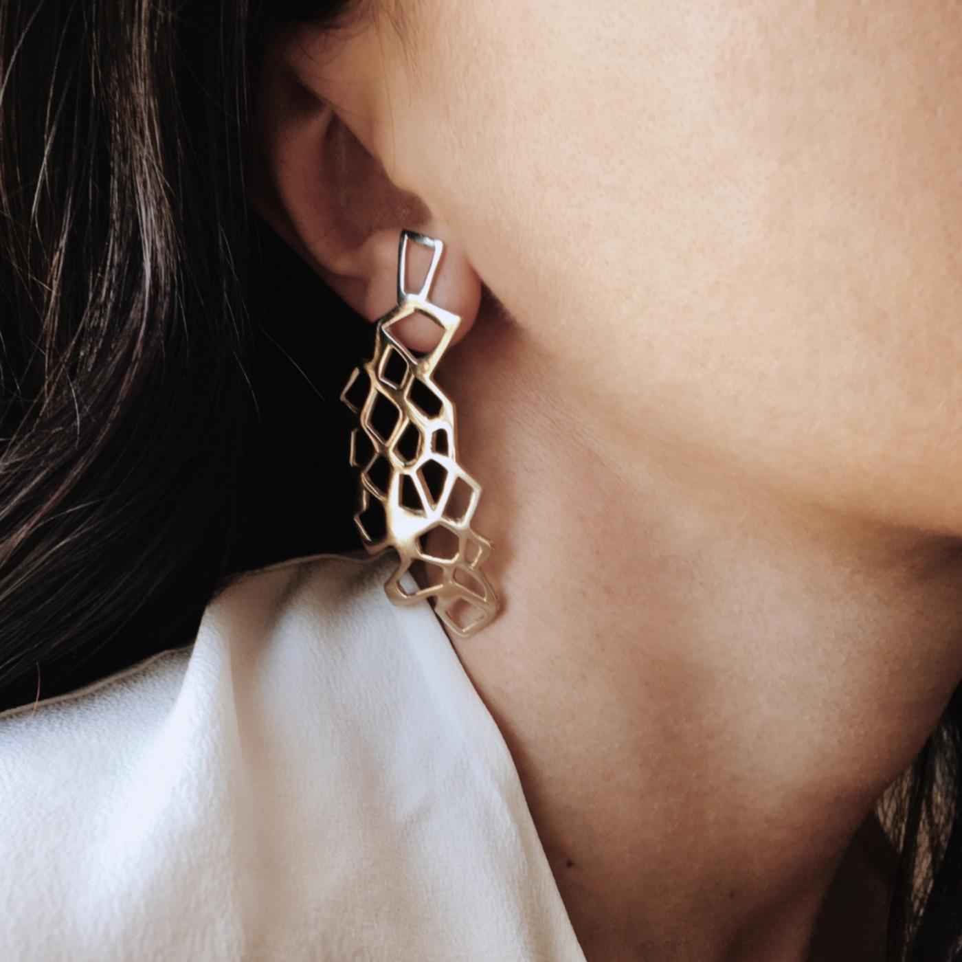 Lutèce Earrings Rose Gold-Plated Bronze