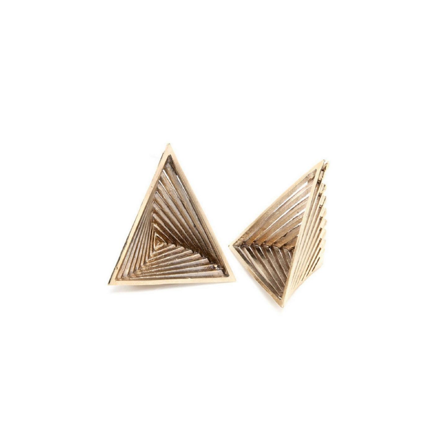 Prospettiva Vortex Earrings Gold Plated Bronze